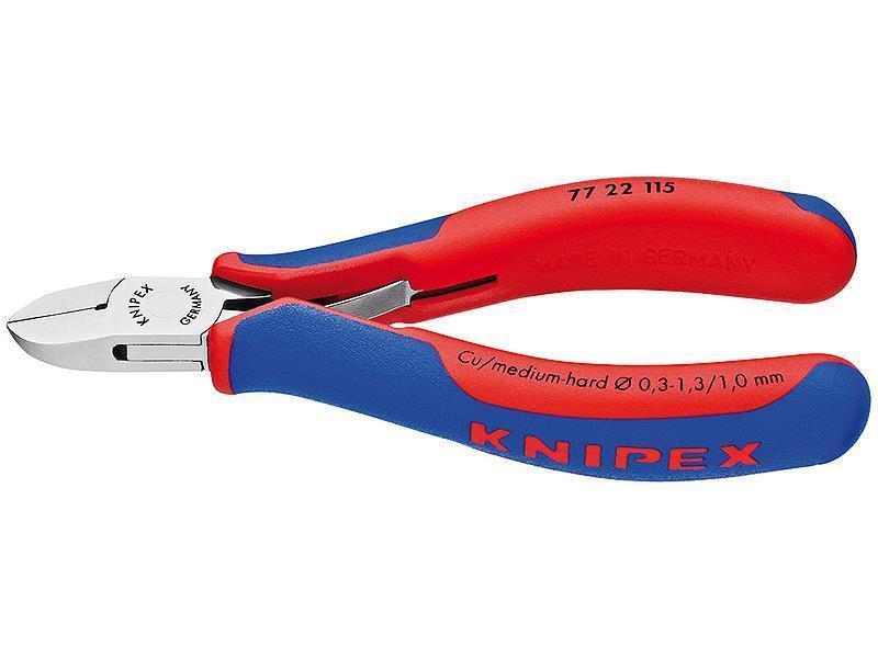 Knipex Elektronik-Seitenschneider mit Mehrkomponenten-Hüllen 115 mm