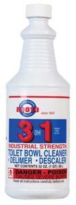 Rooto-1-Qt-1-en-3-Industrial-Strength-Toilet-Bowl-Cleaner-amp-delimer-Pack-de-12