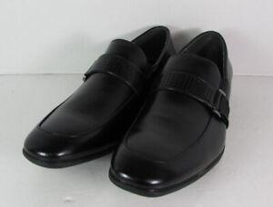 Robert Wayne Mens Tristian Slip On Loafer Shoes, Black, US 9