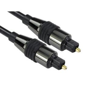 1m SHORT TOSlink Optical Digital Cable Audio Lead PREMIUM CHROME RANGE 5060457589027