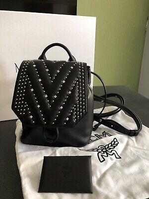 MCM Diamond Disco mini Backpack Black Leather New , Bag , Rücksack Tasche Neu | eBay