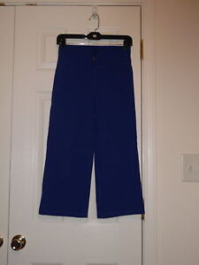 LULULEMON-ATHLETICA-PURPLEISH-BLUE-DRAWSTRING-YOGA-CROPPED-CAPRIS-PANTS-SIZE-2-4
