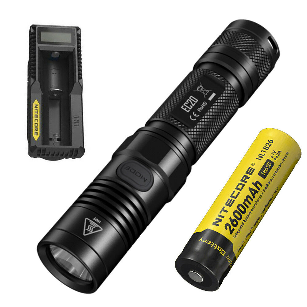 NITECORE EC20 960 Lumens  EDC Waterproof Flashlight with 18650 Battery&Charger  are doing discount activities