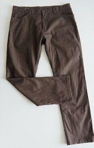 RODD-amp-GUNN-Mens-Regular-Fit-Pants-Smart-Linen-Look-Trousers-W36L-Beige-Brown