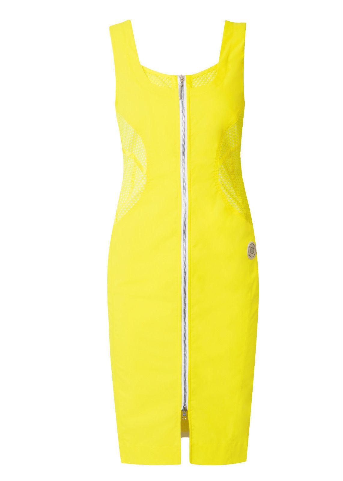 Sportalm Kitzbühel Stretch Kleid Model Dry Wit yellow Gr 36-38 NEU