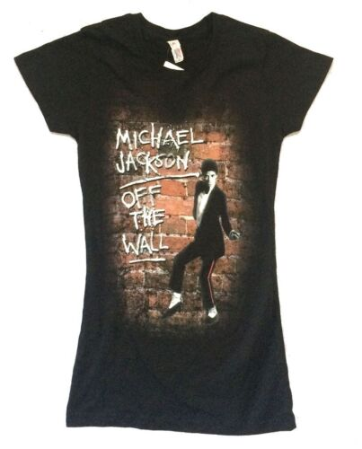 Michael Jackson Off The Wall Image Girls Juniors Black T Shirt New Official