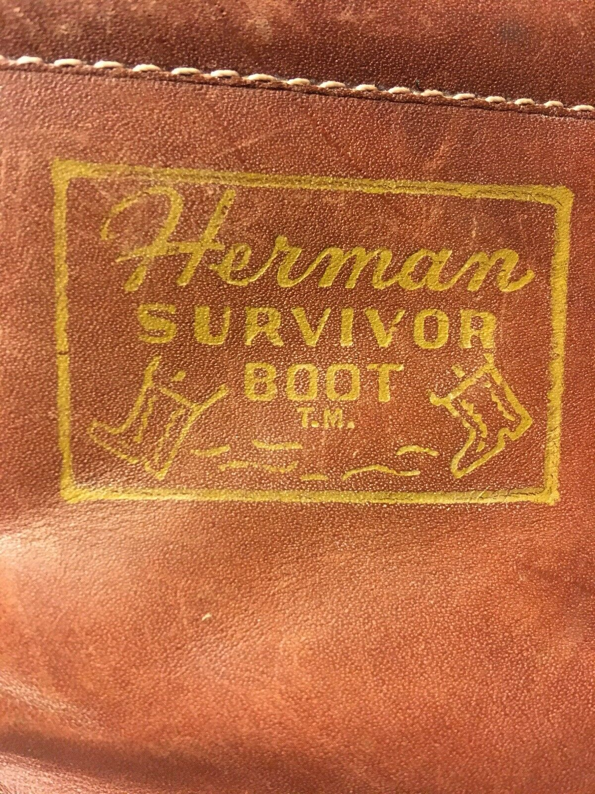 Vintage 1980's HERMAN SURVIVOR Insulated Leather Work Boot Size 8.5