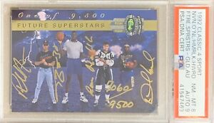 1992-CLASSIC-4-SPORT-Shaquille-O-Neal-SHAQ-amp-PSA-8-DNA-9-AUTO-ROOKIE-RC-9500