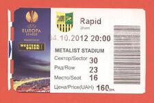 Orig.Ticket   Europa League 12/13   METALIST CHARKIW - SK RAPID WIEN  !!  SELTEN