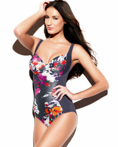 Panache TALLULAH Swimsuit in Charcoal Multi