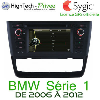 "Autoradio Multimedia 6.2"" Tactile Dvd GPS Europe iPod USB SD BMW Série 1 E87 E88"