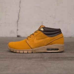 Details about Nike SB Stefan Janoski Max Mid Premium Shoes Boots Skate Casual Wheat Bronze Gum