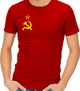soviet flag hammer and sickle communist communism ussr cccp t shirt
