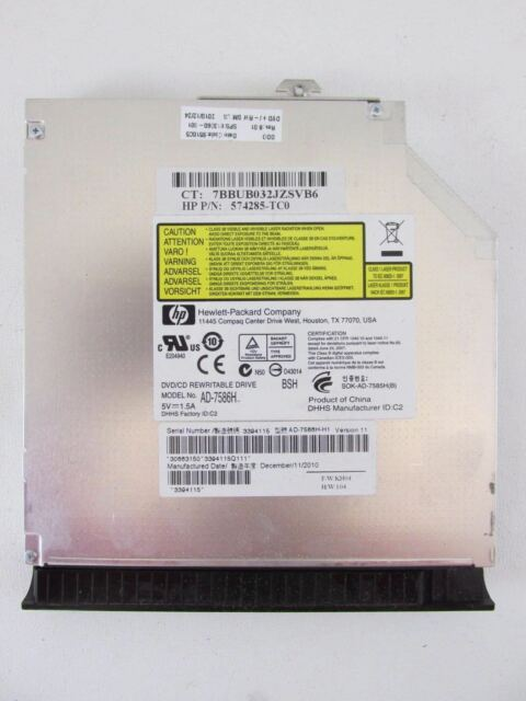 HP ProBook 6450b 6455b 6555b DVDRW SATA Drive 574285-TC0 AD-7586H SPS 613360-001