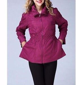 Xl Women's Pink Light Sr 18 20 Berry Jerry T Nwt Jacket Dark Ny 7061 Txq045H