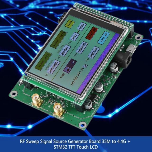 RF Sweep Signal Source Generator Board 35M to 4.4G + STM32 TFT Touch LCD New