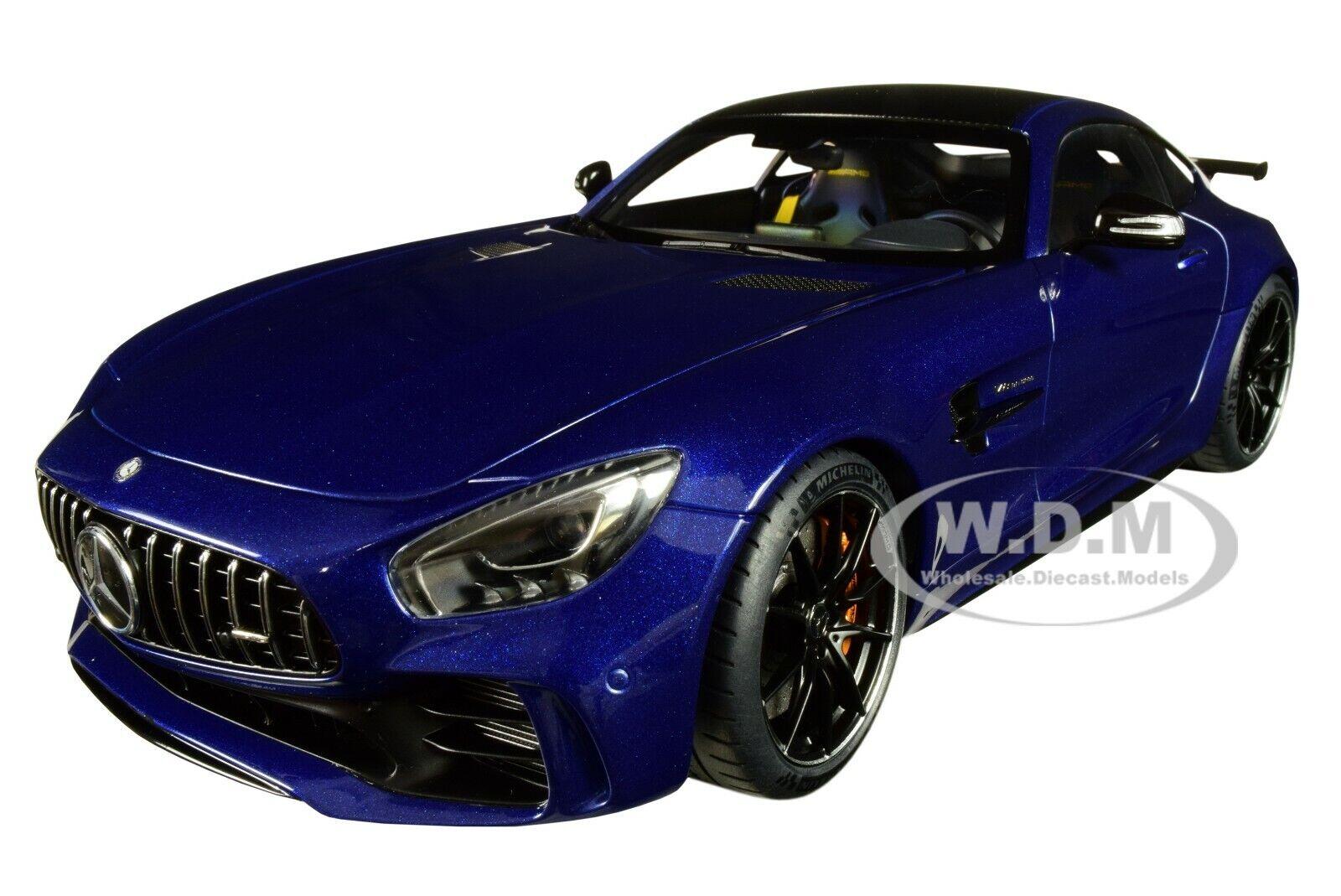Mercedes AMG GT R Brillante blu Metálico 1 18 modelo de coche de Autoart 76334