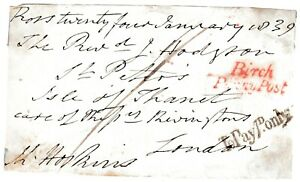 1839-HEREFORDSHIRE-FREE-FRONT-RED-BIRCH-PENNY-POST-amp-TO-PAY-1d-ONLY-HOSKINS
