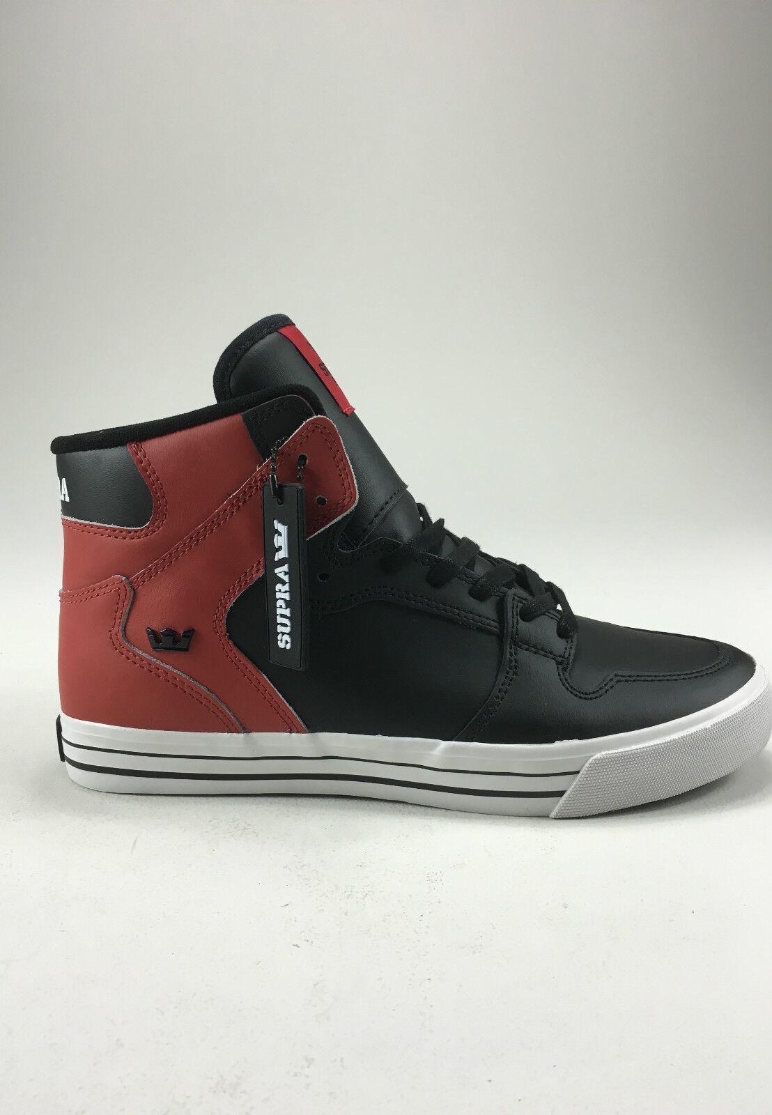 Supra Vaider zapatos Trainers Negro Rojo Nuevo en caja en tamaño de