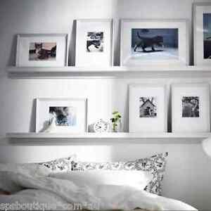 ikea picture ledge floating shelf spice rack knoppang wall photo 75cm white ebay. Black Bedroom Furniture Sets. Home Design Ideas