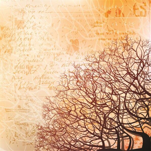 3D Tree Branches Silhouette Papier Wand Drucken Decal Wand Deco Innen Wand Murals
