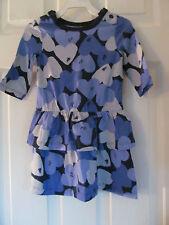 NWT Baby Girls Joe Fresh Long Sleeve Purple Heart Shaped Ruffled dress sz 2