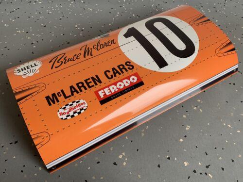 WOW!!!Curved Bruce McLaren F1 Formula 1 Race Car Door Style Sign
