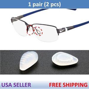 despensa plantador Médula ósea  US Seller for Nike Eye Glasses Premium Silicone Nose Pads Nosepads x1 Pair  Clear | eBay