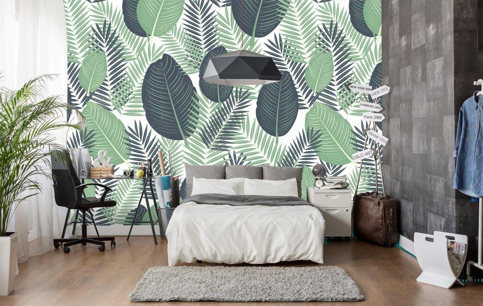 3D Grün Leaf Grass 853 Wallpaper Mural Paper Wall Print Indoor Murals CA Summer
