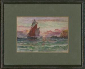 William-Howard-Yorke-1847-1921-Pair-of-Framed-Watercolours-Ship-Views