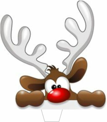 90 PREMIUM CHRISTMAS REINDEER STAND UP EDIBLE RICE CARD Cake Toppers XMAS D15