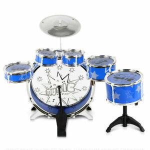 Keezi 11-Piece Kids Drum Set - Blue