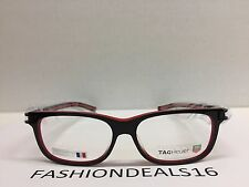 7b8397db176 item 4 New Tag Heuer w TAGS 7607 Track S Black Red TH7607 001 56mm Optical  Eyeglasses -New Tag Heuer w TAGS 7607 Track S Black Red TH7607 001 56mm  Optical ...