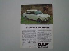advertising Pubblicità 1975 DAF 44 LUXE BERLINA