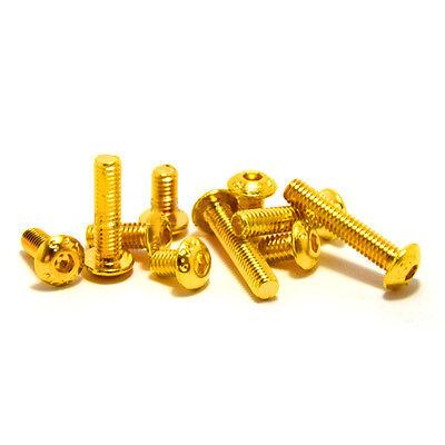 M2/M2.5 Allen Screw Hex Socket Half Round Head Screw Ti Gold Plated Golden Bolts