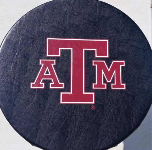 """Vinyl Texas A/&M University Aggies Spare Tire Cover up to 32/"""" Diameter"""