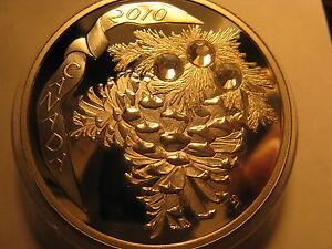 Canada-2010-20-Rare-Coin-Holiday-Pine-Cones-Moon-Light-Fine-Silver-Rare-Coin