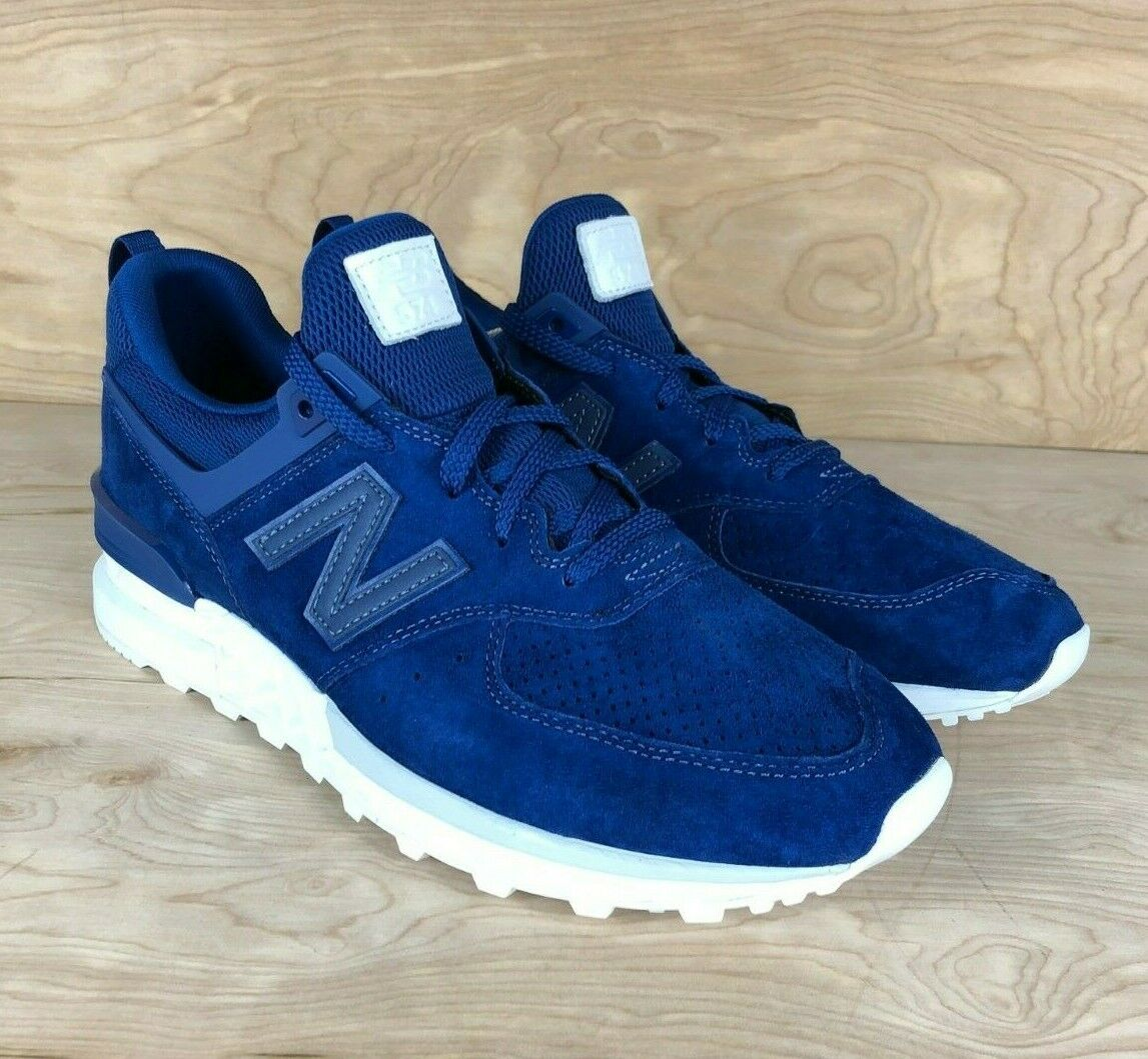 New Balance MS574BLB 574 SPORT REMIXES blueE SUEDE LIFESTYLE SNEAKERS SIZE 11