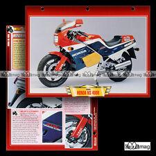 #015.02 Fiche Moto HONDA NS 400 R (NSR) 1985 Sport Motorcycle Card