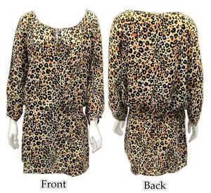 NWT-TOLANI-Hollywood-Celeb-Must-Haves-Eva-Cheetah-Print-100-Silk-Tunic-Dress