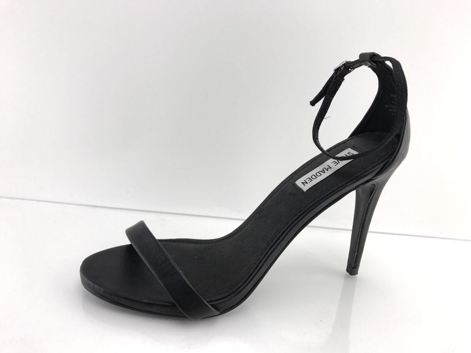 promozioni di sconto Steve Madden Stecy Donna    nero Leather Strap Ankle High Heel Sandals 10 M  outlet in vendita