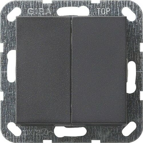 Gira Serien-TASTRAST-Schalter mit Wippe anthrazit System 55 012528