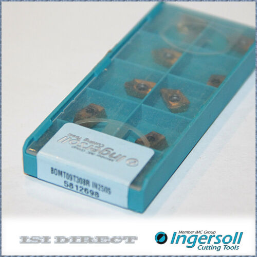 BOMT 09T308R IN2505 INGERSOLL 10 INSERTS FACTORY PACK
