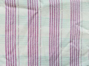 Image Is Loading A23 Vintage Pink Purple Green Striped Fabric Salvage