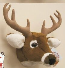 "11"" White Tailed Deer Head Plush Stuffed Animal Toy"