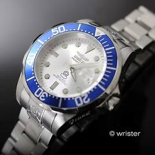 Automatic Invicta Grand Pro Diver 300m WR Blue Bezel Silver Dial 47mm Mens Watch