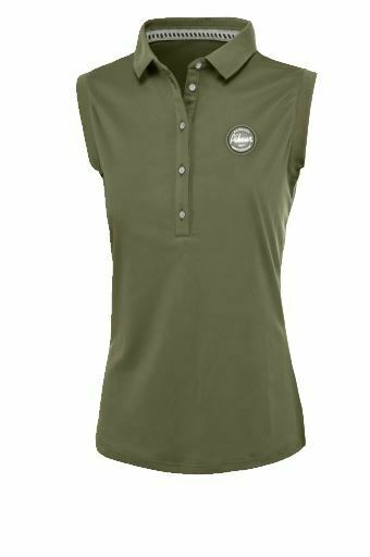 Pikeur SS19 Jarla Sleeveless Polo Top - Light Olive