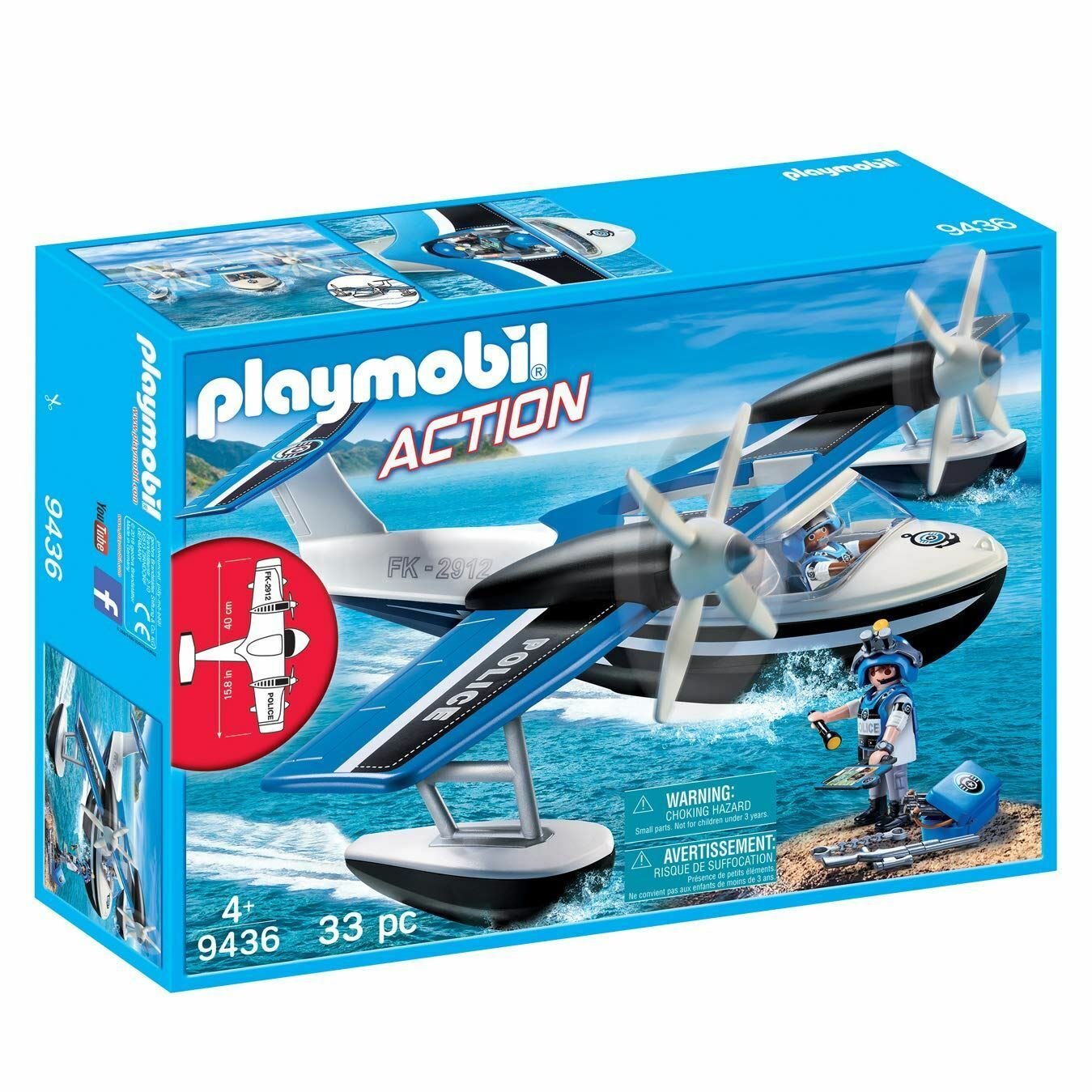 Playmobil 9436 Action Floating Police Seaplane, Various