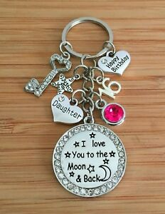 Image Is Loading 18th 21st Key Birthday Gift Keyring For Daughter