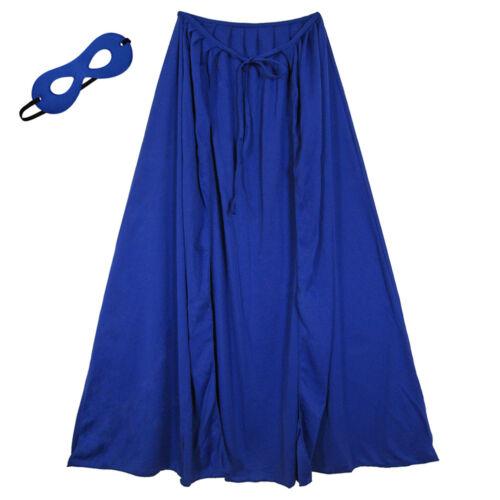 "28/"" Child Blue Superhero Cape /& Mask Costume Set ~ HALLOWEEN COSTUME PARTY"